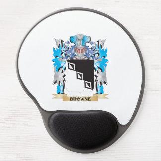 Escudo de armas de Browne Alfombrillas De Raton Con Gel