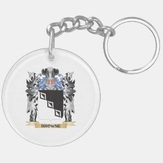 Escudo de armas de Browne - escudo de la familia Llavero Redondo Acrílico A Doble Cara