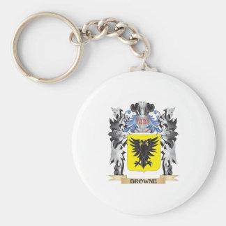 Escudo de armas de Browne - escudo de la familia Llavero Redondo Tipo Pin