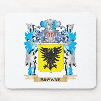 Escudo de armas de Browne Tapetes De Ratones
