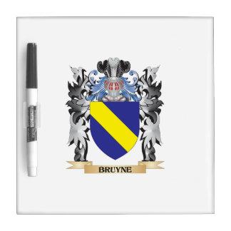 Escudo de armas de Bruyne - escudo de la familia Pizarra Blanca