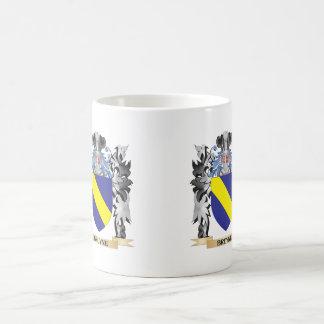 Escudo de armas de Bruyne - escudo de la familia Taza Básica Blanca