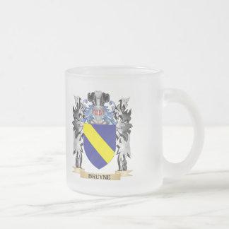 Escudo de armas de Bruyne - escudo de la familia Taza Cristal Mate