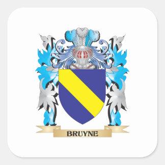 Escudo de armas de Bruyne Calcomania Cuadradas Personalizada
