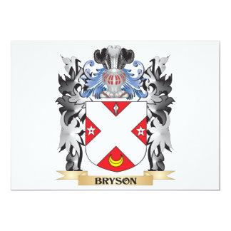 """Escudo de armas de Bryson - escudo de la familia Invitación 5"""" X 7"""""""
