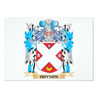 """Escudo de armas de Bryson Invitación 5"""" X 7"""""""