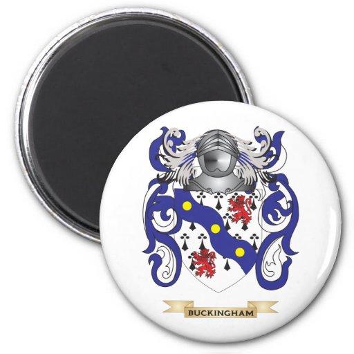 Escudo de armas de Buckingham (escudo de la famili Imán Redondo 5 Cm