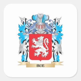 Escudo de armas de Bue Pegatina Cuadrada