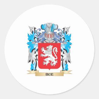Escudo de armas de Bue Pegatina Redonda