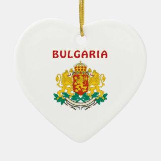 Escudo de armas de BULGARIA Adorno De Cerámica En Forma De Corazón