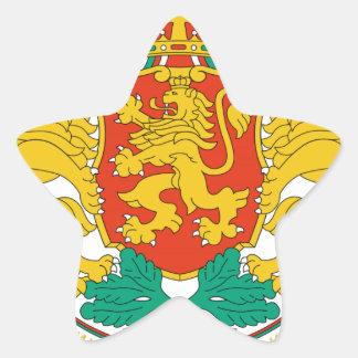 Escudo de armas de Bulgaria Pegatina En Forma De Estrella