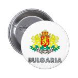 Escudo de armas de Bulgaria Pin Redondo De 2 Pulgadas
