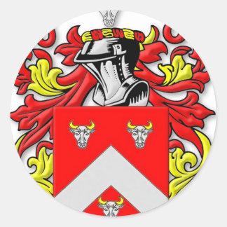 Escudo de armas de Bullock Pegatina Redonda
