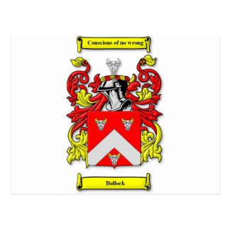 Escudo de armas de Bullock Tarjeta Postal