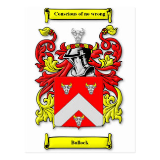 Escudo de armas de Bullock Tarjetas Postales