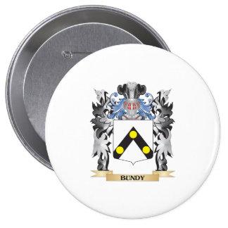 Escudo de armas de Bundy - escudo de la familia Pin Redondo 10 Cm
