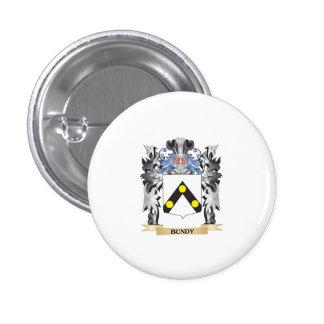 Escudo de armas de Bundy - escudo de la familia Pin Redondo 2,5 Cm