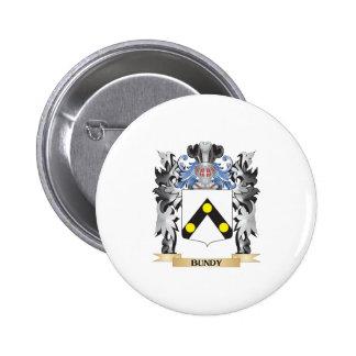 Escudo de armas de Bundy - escudo de la familia Pin Redondo 5 Cm