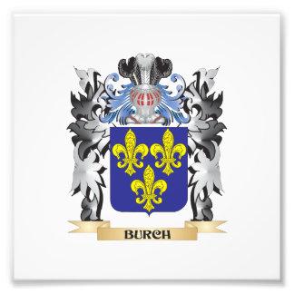 Escudo de armas de Burch - escudo de la familia Fotografías