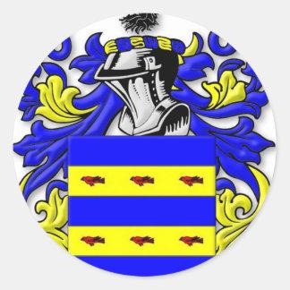 Escudo de armas de Burdette Pegatina Redonda