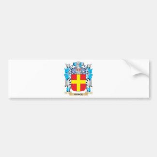 Escudo de armas de Burge Pegatina Para Coche