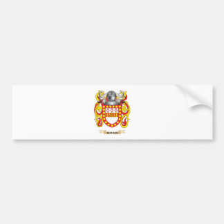 Escudo de armas de Burges (escudo de la familia) Etiqueta De Parachoque