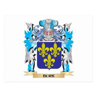 Escudo de armas de Burk Postales