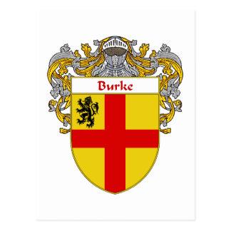 Escudo de armas de Burke (cubierto) Postal