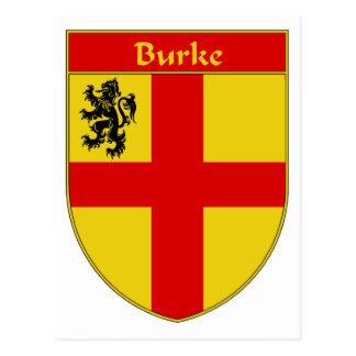 Escudo de armas de Burke/escudo de la familia Tarjeta Postal