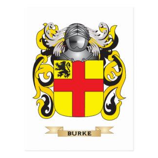 Escudo de armas de Burke (escudo de la familia) Postal