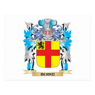 Escudo de armas de Burke Tarjeta Postal