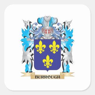Escudo de armas de Burrough Pegatinas Cuadradas Personalizadas
