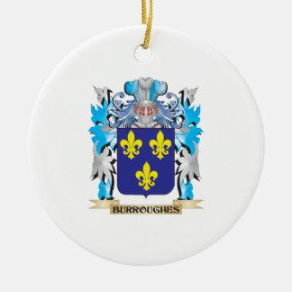Escudo de armas de Burroughes Ornaments Para Arbol De Navidad