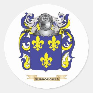 Escudo de armas de Burroughes (escudo de la Etiqueta Redonda