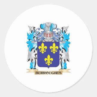 Escudo de armas de Burroughes Etiqueta Redonda