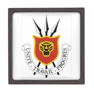 Escudo de armas de Burundi Caja De Recuerdo De Calidad