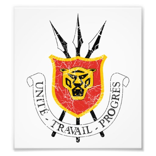 Escudo de armas de Burundi Fotografias