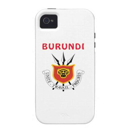 Escudo de armas de Burundi iPhone 4/4S Carcasa