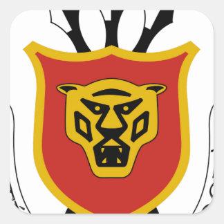 Escudo de armas de Burundi Pegatina Cuadrada
