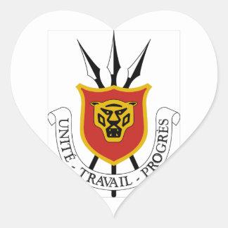 Escudo de armas de Burundi Pegatina En Forma De Corazón