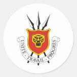 Escudo de armas de Burundi Pegatina Redonda