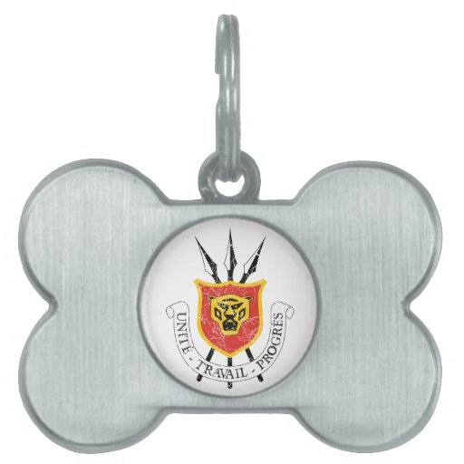 Escudo de armas de Burundi Placa De Mascota