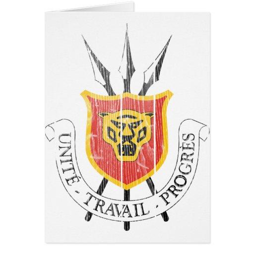 Escudo de armas de Burundi Tarjeta De Felicitación