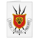 Escudo de armas de Burundi Tarjeton