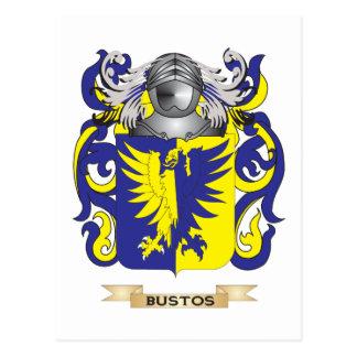 Escudo de armas de Bustos (escudo de la familia) Postales
