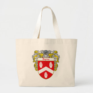 Escudo de armas de Byrne (cubierto) Bolsa Tela Grande
