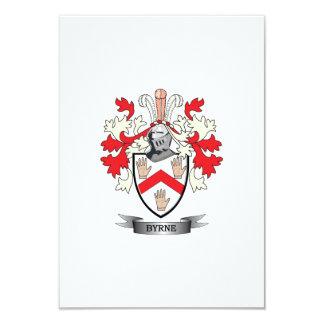 """Escudo de armas de Byrne Invitación 3.5"""" X 5"""""""