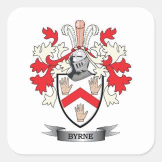 Escudo de armas de Byrne Pegatina Cuadrada