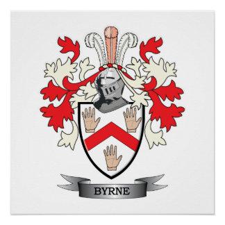 Escudo de armas de Byrne Perfect Poster