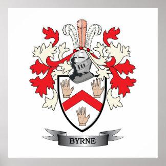 Escudo de armas de Byrne Póster